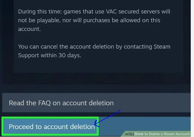Delete Steam Account