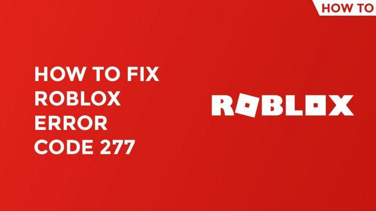 roblox error code 277