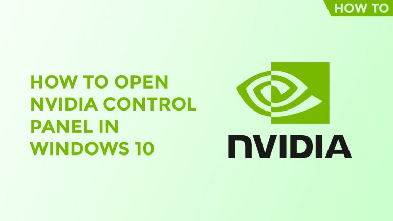 How To Open Nvidia Control Panel In Windows 10-min